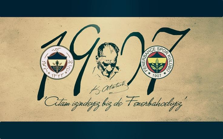 Atam İzindeyiz Biz de Fenerbahçeliyiz.. Mustafa Kemal ATATÜRK #1907 #FB