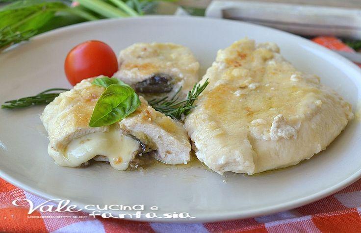 Petti di pollo con melanzane e provola ricetta secondo piatto