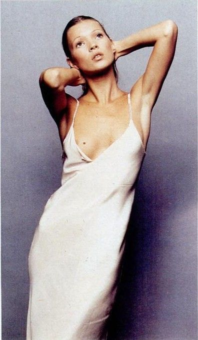 Kate Moss in this seasons must have, the slip dress.