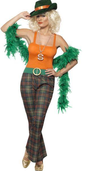 Pimpette gangster kostuum voor dames. Origineel pimp kostuum, maar dan voor dames! Dit pimpette pak bestaat uit de broek met riem en topje. Voor bijpassende pimp / gangster accessoires kunt u ook in deze webshop terecht. Carnavalskleding 2015 #carnaval