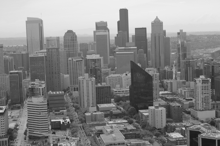 Seattle City skyline, May 2013