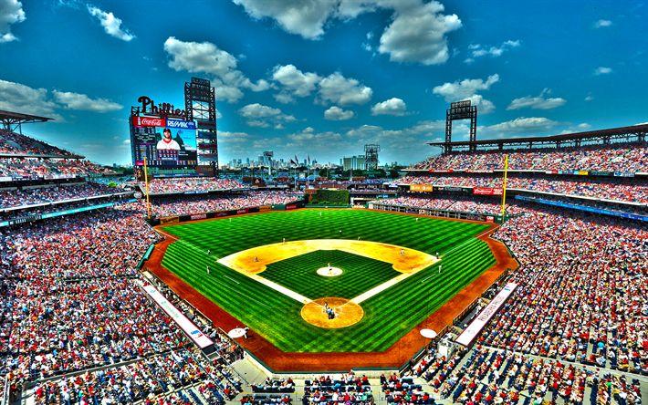 Download wallpapers Citizens Bank Park, baseball stadium, USA, Philadelphia, Philadelphia Phillies, MLB, Major League Baseball
