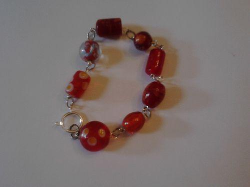 Red murano bracelet - 8 pounds