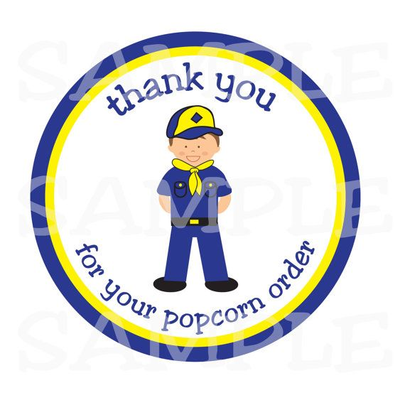 Personalized Stickers Boy Scout Cub Scout Party by simplysweetness