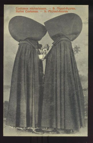 SAO MIGUEL, AZORES ~ TWO WOMEN IN NATIVE COSTUME circa 1910's
