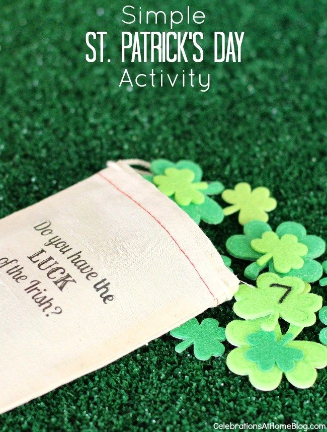 """St. Patrick's day """"Lucky Number"""" game"""