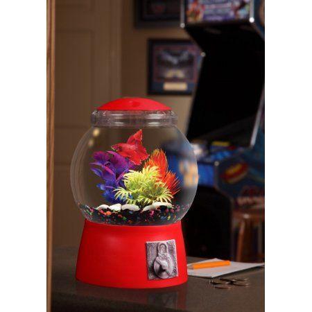 Aqua Culture 1.5 Gallon Gumball Aquarium, LED Lighting 9 inchDIA x 13 inchH