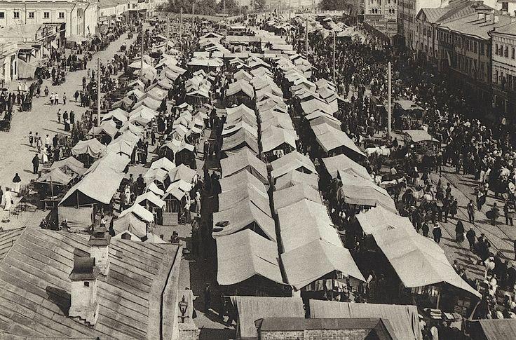 Москва, старый рынок у Сухаревой башни, Москва, НЭП