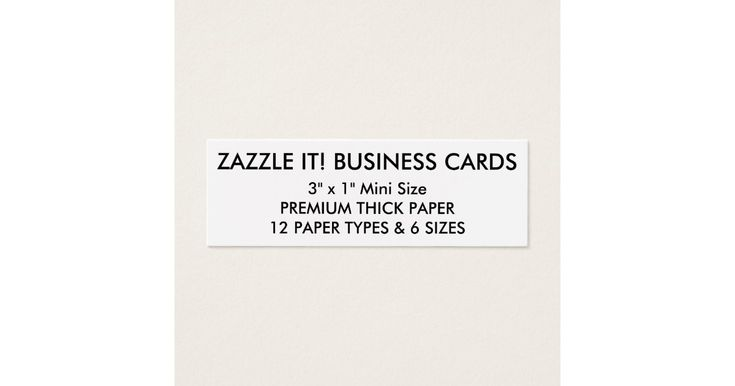 Custom Personalized Business Cards Blank Template | Zazzle.com