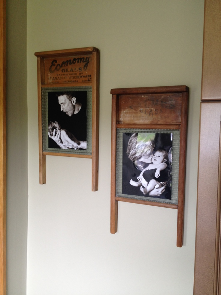 Washboard Photo Frames And Easy Diy Country Home
