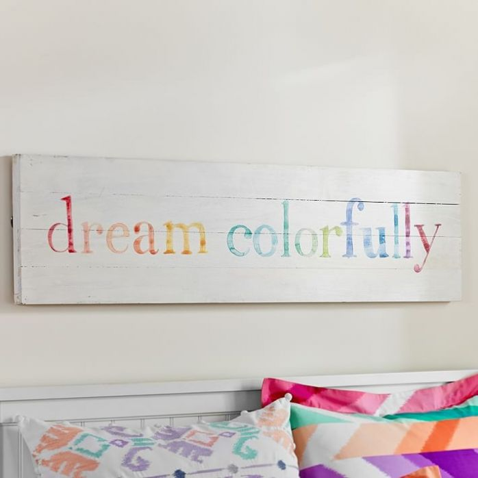 dream colorfully pottery barn teen knock off art