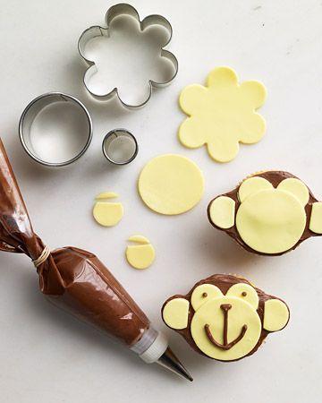 Monkey Cupcake - So easy, so cute!