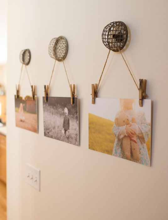 The cutest way to hang family photos!