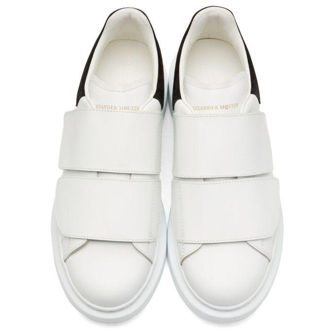 388d89c2ed6c White Oversized Strap Sneakers
