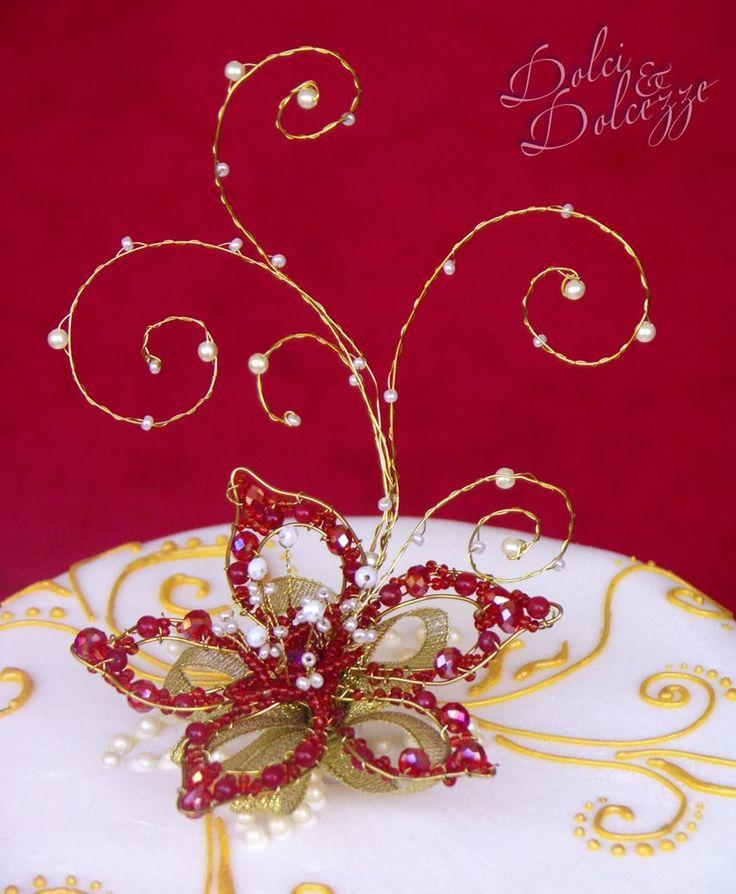 torta con stella di Natale di perle per ricordo