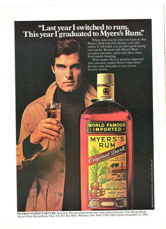 1980 Print Ad Myers's Rum Kingston Jamaica Dark by saffronfields