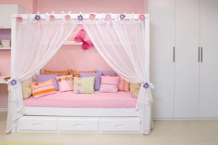 Cama Dossel Princesa com roupa de cama temática para