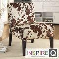 Inspire Q Decor Cowhide Fabric Chair