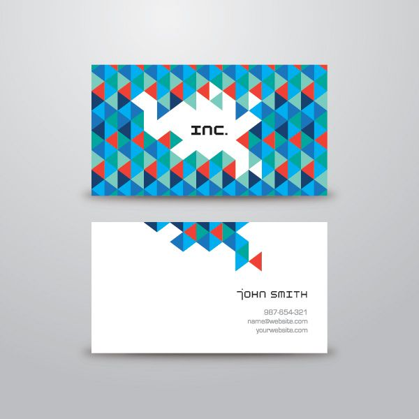 Triangular Business Card Vector Graphic - DryIcons