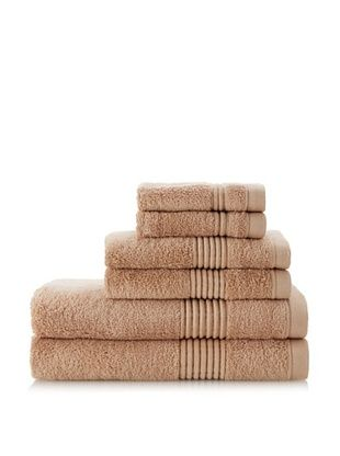 62% OFF Chortex Ultimate 6-Piece Towel Set, Cappuccino