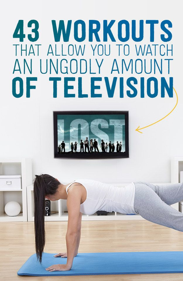 43 different and amazing workouts for when you need a little boob tube time also. And yes this would be possible watching Lost!