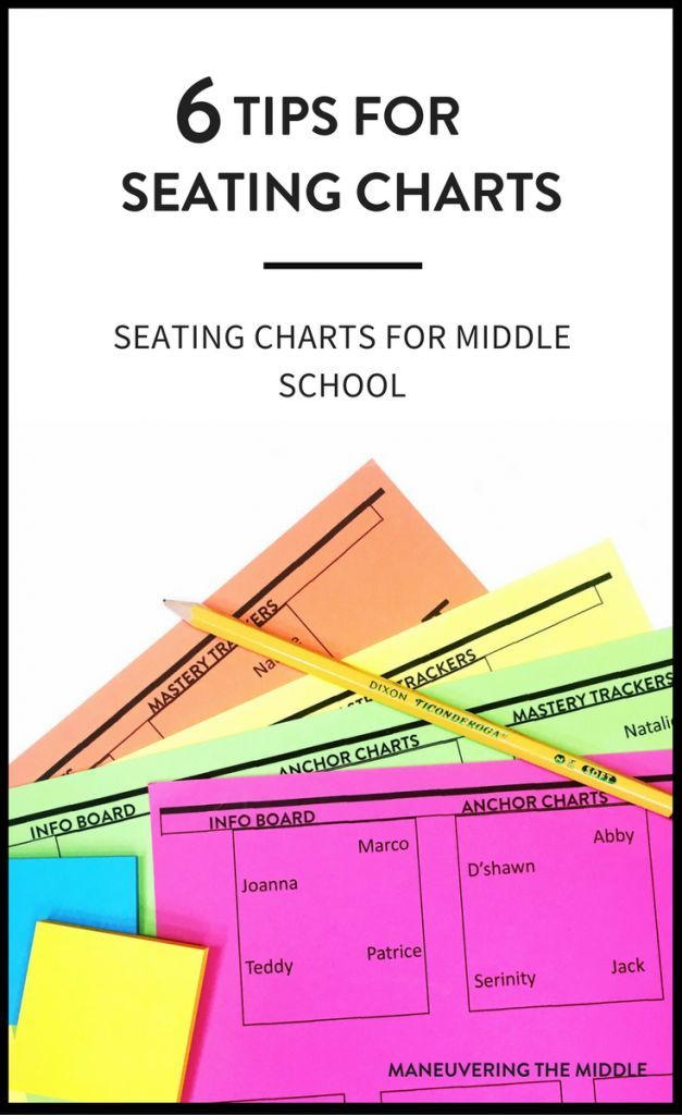 Creating seating charts for middle school students can make a key difference in your class.  6 tips for efficiently creating seating charts.   maneuveringthemiddle.com