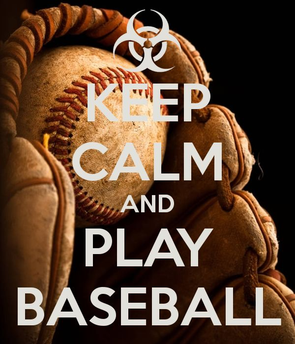 'KEEP CALM AND PLAY BASEBALL' Poster