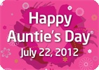 Auntie's Day Posters and eCards!