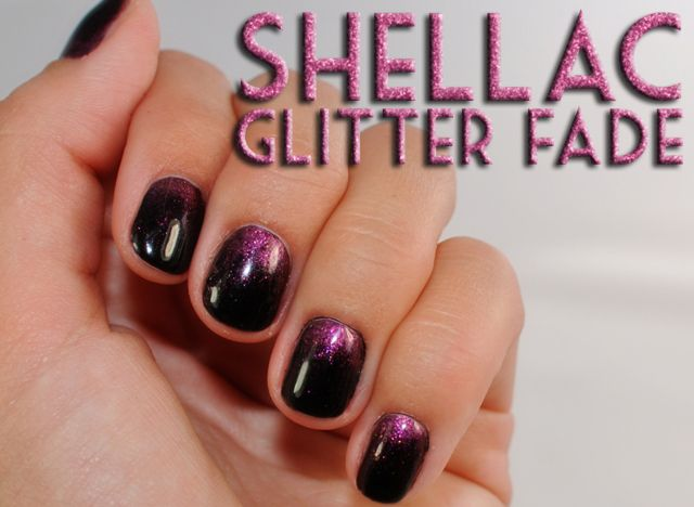 cnd shellac designs downloadmani monday cnd shellac black pool pink gold sparkle additive - Shellac Nail Design Ideas