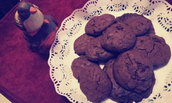 Double choc cookies :'D