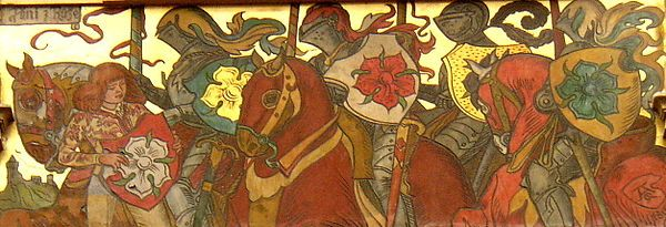 Noble clans of Vitkovci, including Landstejn, silver rose on a red field.
