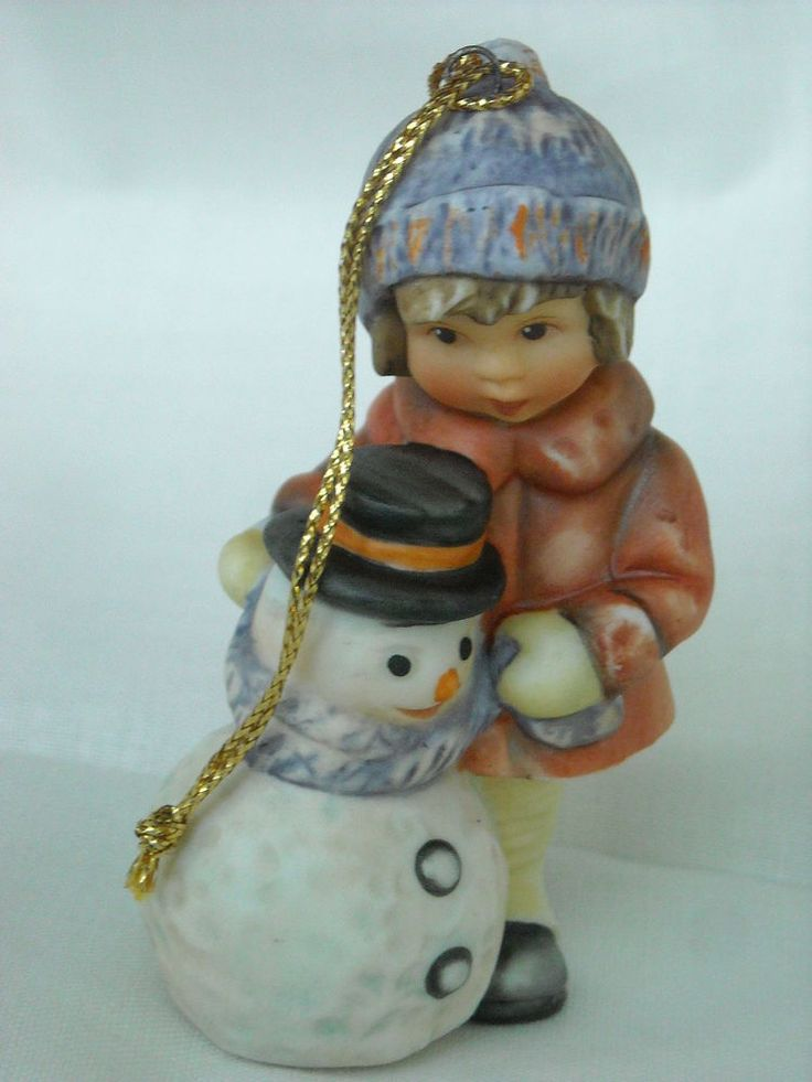Goebel Berta Hummel Porcelain Christmas Ornament Girl With ...
