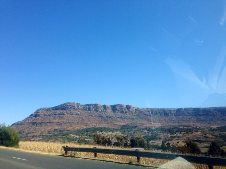 Driving through the beautiful Ba-Sotho mountains of Maseru, Lesotho, 2014