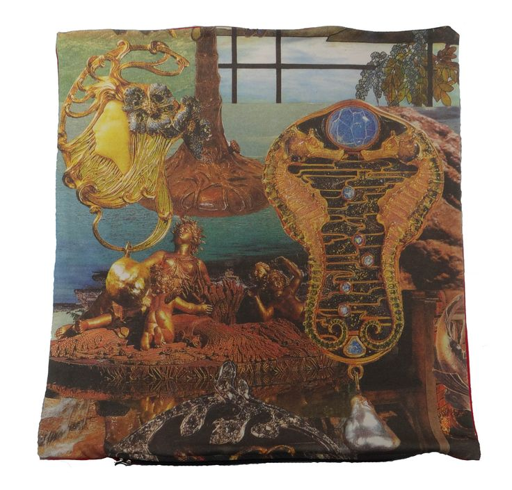 The cushion is digitally printed and shows part of the famous story The Little Mermaid by Hans Christian Andersen. #goldchildren #hcandersen #cushion #pillow #decor #digitalprint #cushionsale #shop #handmade #buy #art #fairytale #homedesign #print #interiordesign #luxury #story #forbed