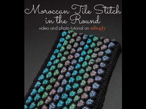 Learn how to crochet the Moroccan Tile Stitch in the round, as seen in free crochet patterns on Moogly! See more, including the photo tutorial and free patte...