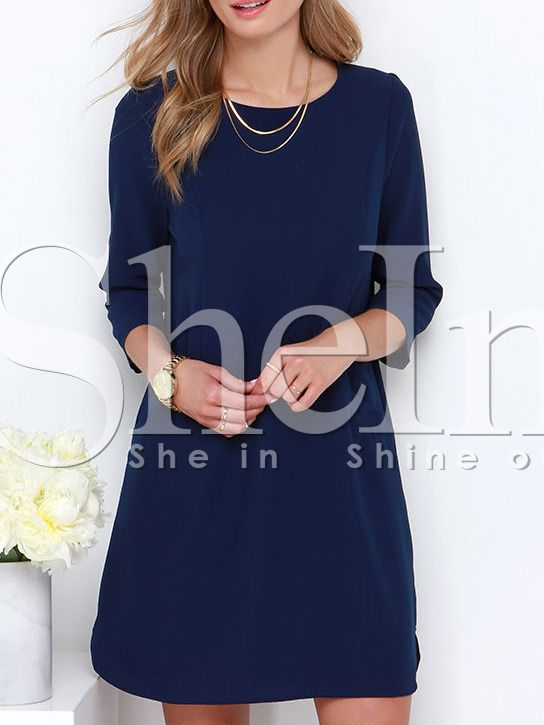 Shop Navy Concert Half Sleeve Pockets Dress online. SheIn offers Navy Concert Half Sleeve Pockets Dress & more to fit your fashionable needs.