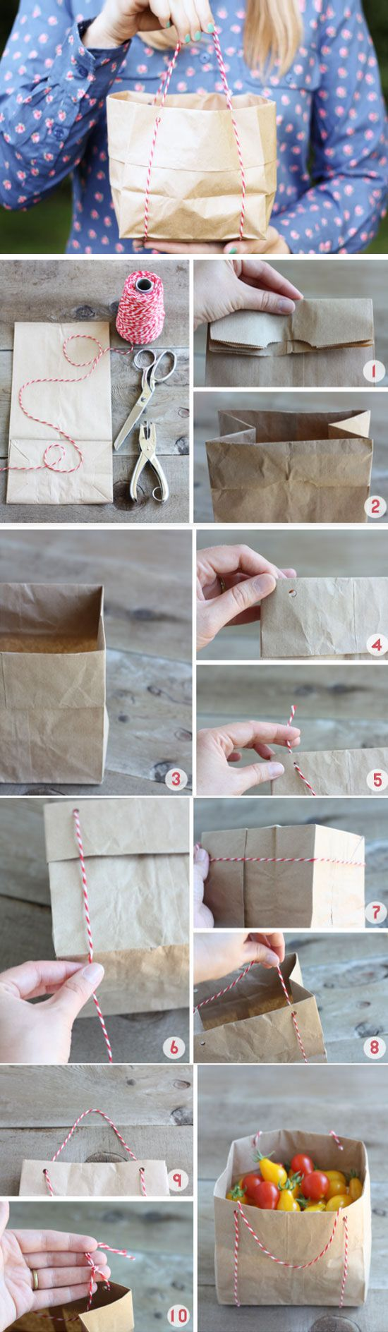 Paper Bag Totes | Click Pic for 18 Easy DIY Easter Basket Ideas for Kids | Homemade Easter Baskets for Kids to Make
