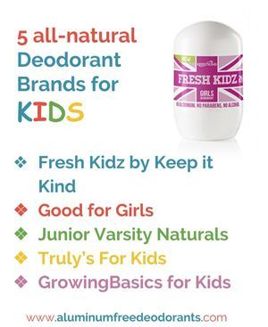 Are you looking for safe Deodorant Brands for your Teenage Kids: 5 Natural Deodorant Brands specifically for Kids