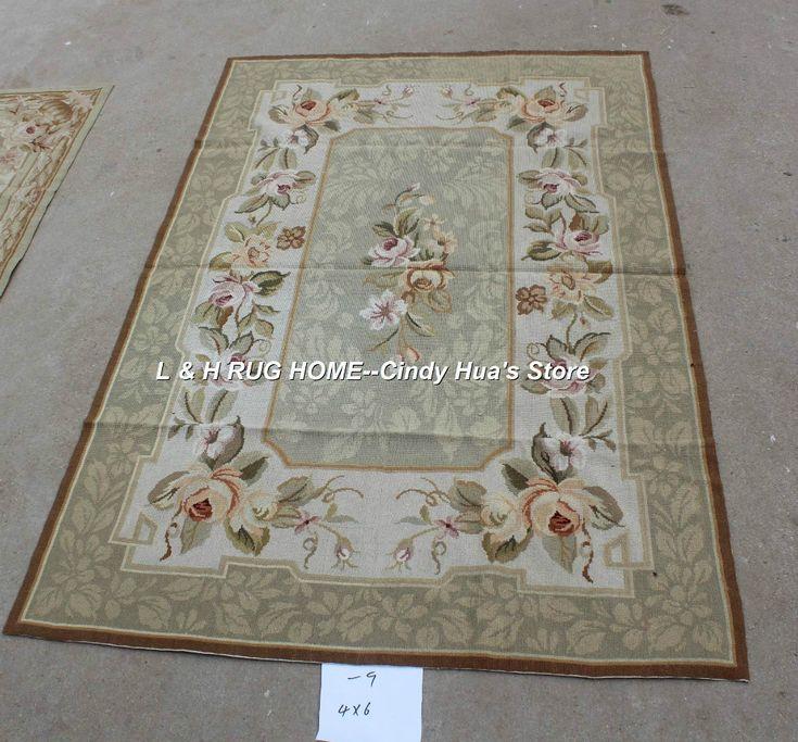 Бесплатная доставка 10 К 4'x6 'ручной работы кружево шерстяные ковры, ковры 100% Шерсти Новой зеландии, и Ручной работы ковры для дома декор