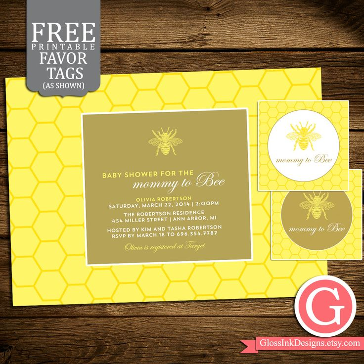 baby shower invitation for twins%0A Baby Shower Invitation Mommy to Bee Bumble Bee by GlossInkDesigns