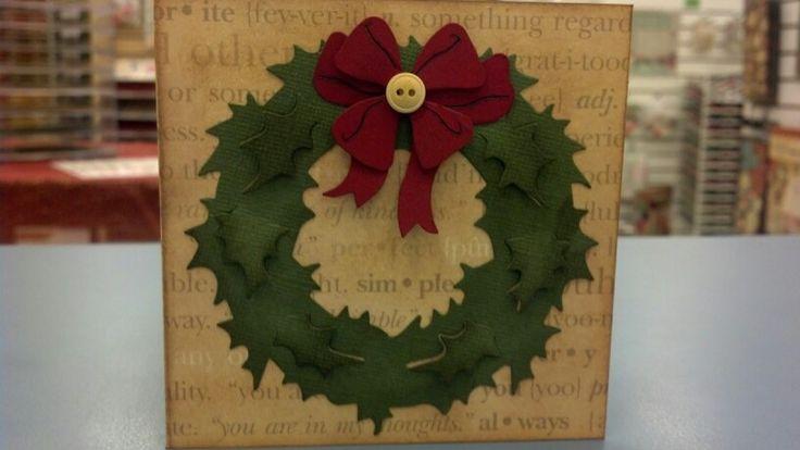 Tim Holtz Holiday Wreath Card Christmas Cards Holiday