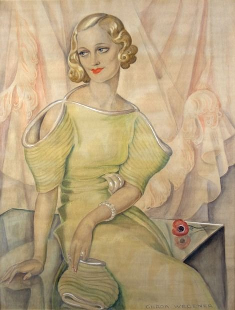 Gerda Wegener, (1886-1940), 1934, Portrait of Eva Heramb (1899-1957, Danish actress).