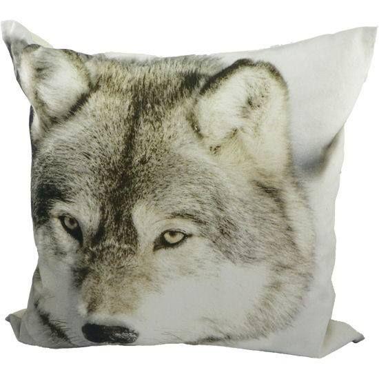 Sierkussen Wolf. 50x50cm €18,00