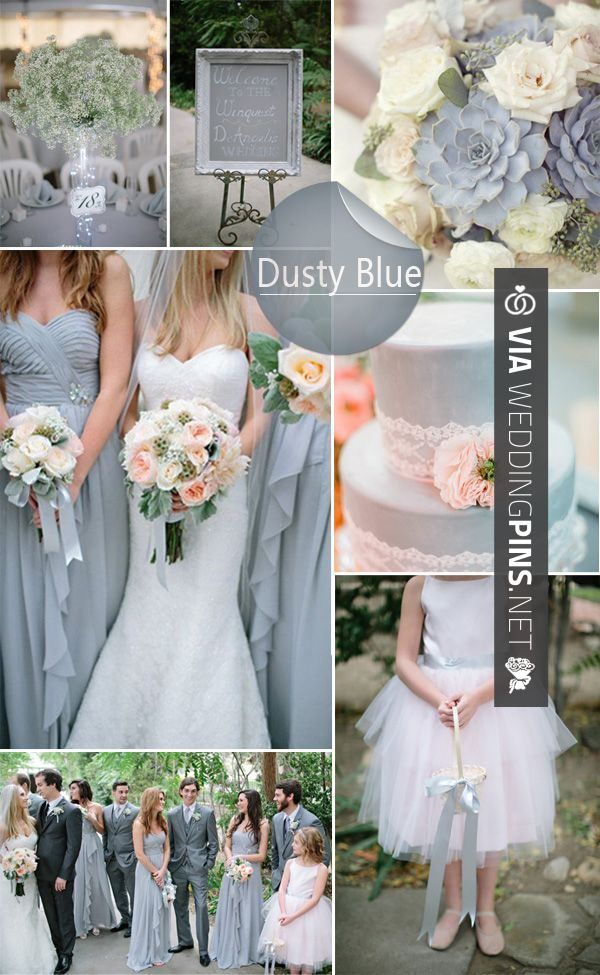Wedding Colour Schemes 2017 Top 10 Colors Ideas For Spring We Love This Stunning Sophisticated Dusty Blue Scheme