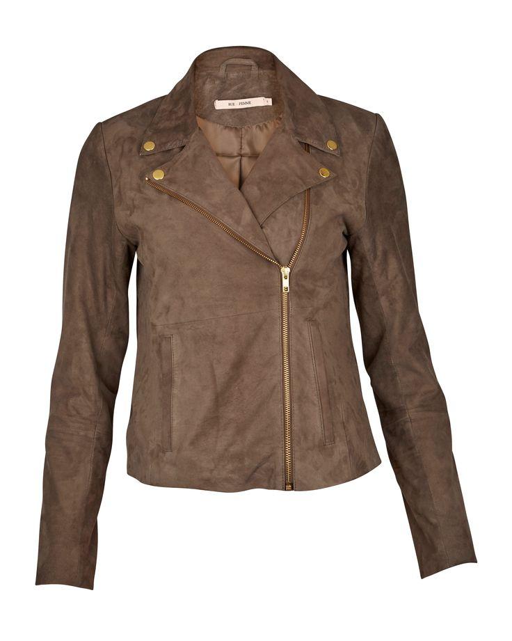 gede ruskinds jakke fra RUE de FEMME