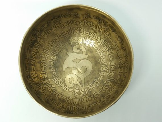 14.5cm Special mantra carving engraved Handmade 7 by NEPALIcrafts