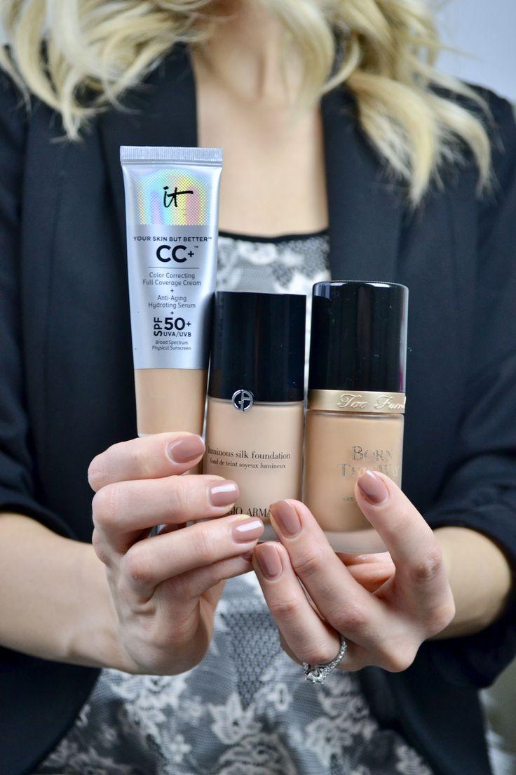 favorite foundations |Giorgio Armani Luminous Silk, IT Cosmetics CC Cream, and Too Faced Born This Way|