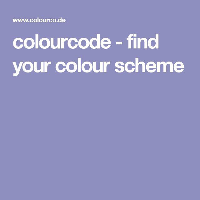 colourcode - find your colour scheme