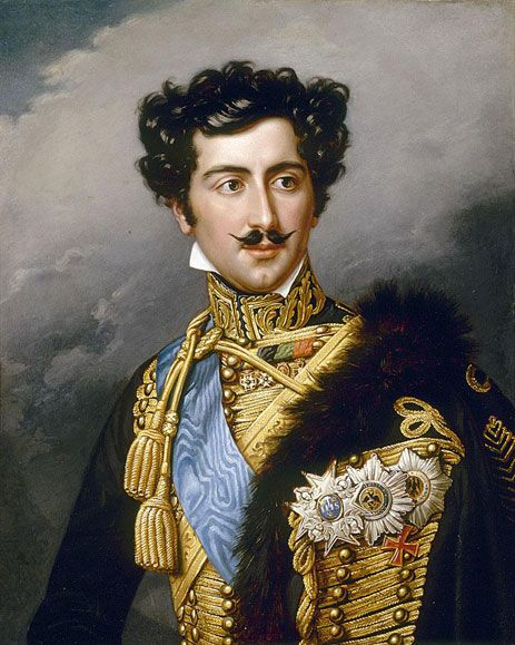 Crown Prince Oscar of Sweden by Joseph Karl Stieler (German 1781-1858).....stiletto-sharp moustache...