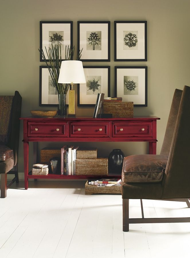 red painted furniture. This is cool!